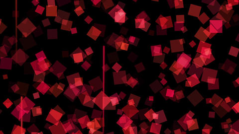 cube particle_red_high speed _loop CG動画