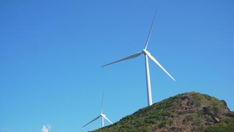 Solar Farm with Windmills. Philippines, Luzon フォト