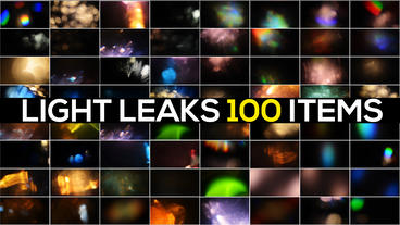 100 LIGHT LEAKS PACK Plantilla de After Effects