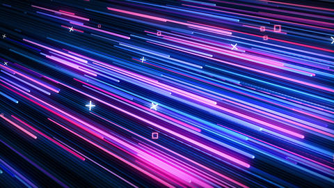 Pink-blue neon animated VJ background CG動画