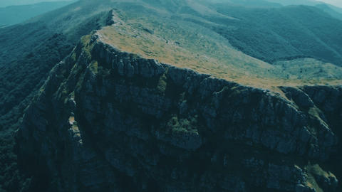 Beautiful Mountain Top Panorama ,green grass landscape in high altitude mountain Footage