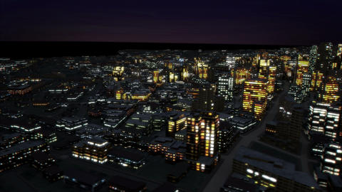 Night city side track 4K Animation