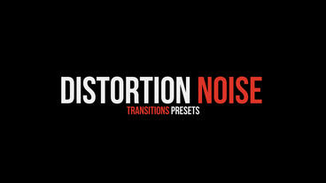 Distortion Noise Transitions Presets Premiere Proテンプレート