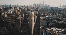 The fork of two streets, the business center of New York. The whole metropolis Footage