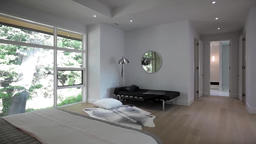 Montage of different rooms in a beautiful luxury home, shot on a moving dolly 6 Footage