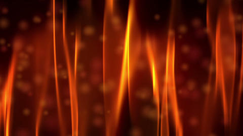 Red Fire Flame and Bokeh Animation