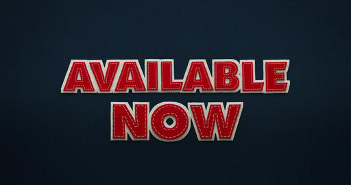 Available now. Red letters fly from the top in and disappear again. Stop Motion Animation