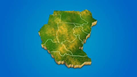 Sudan country map satellite camera zoom in sky effect shot visualization After Effects Template