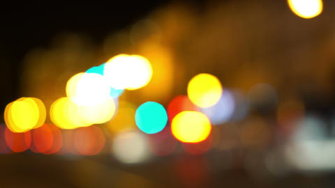 Car Bokeh Lights Stock Video Footage