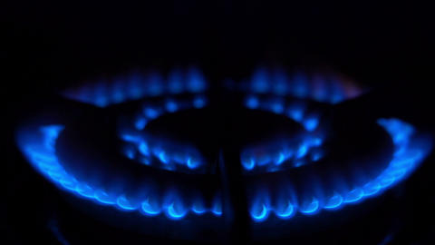Burning Gas Blue Fire Stock Video Footage