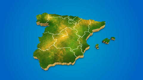 Spain country map satellite camera zoom in sky effect shot visualization After Effects Template