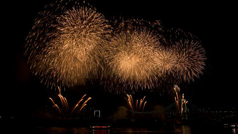 Scenery of FIREWORKS at ODAIBA area ビデオ
