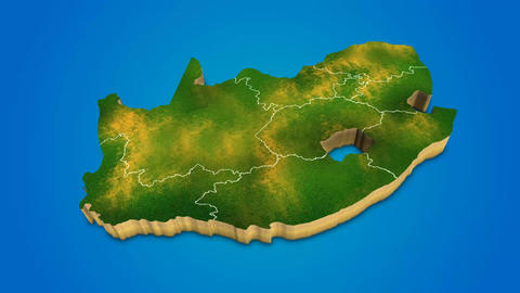 South Africa country map satellite camera zoom in sky effect shot visualization After Effects Template