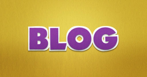 Blog. Intro. The word blog in a stop motion animation with paper pattern. The Videos animados