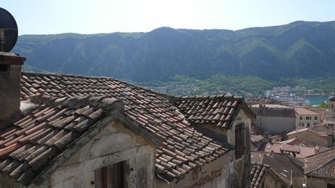 Tiled roofs of the old city Footage