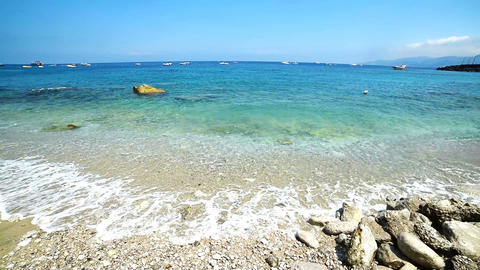 Marina Grande beach in world famous Capri island Footage