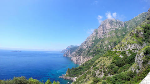 Panoramic view of world famous Amalfi coast Live Action