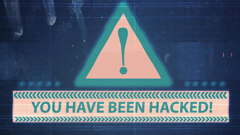 Hacker element and pixel noise Glitch with the inscription You have been hacked 애니메이션