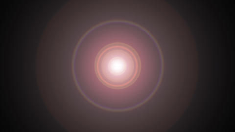 Spot light leak in circle shape on black backround for transitions and composing Live Action