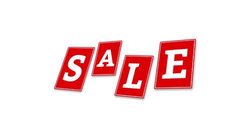 SALE animation bargain promotion advertisement pattern CG動画