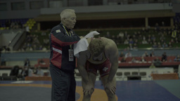 Sports coach and an athlete in competition Footage