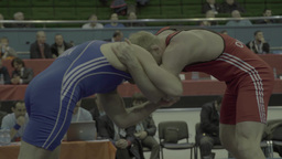 Men athletic the wrestlers are fighting each other Footage