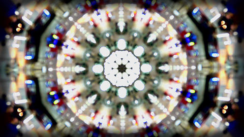 Background kaleidoscope pattern colours Footage