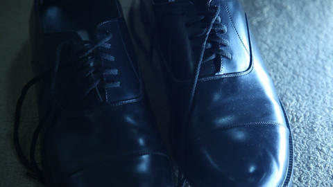 Weddings Man Shoes stock footage