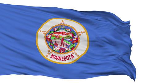 Isolated Waving National Flag of Minnesota Animation
