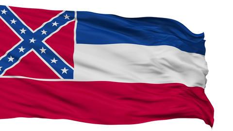 Isolated Waving National Flag of Mississippi Animation