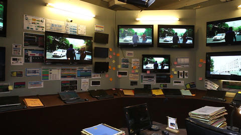 Traffic control room Footage