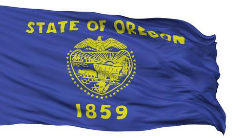 Isolated Waving National Flag of Oregon Animation
