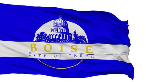 Isolated Waving National Flag of Boise City Animation