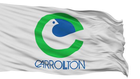 Isolated Waving National Flag of Carrollton City Animation
