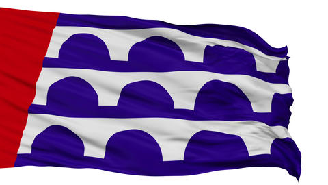 Isolated Waving National Flag of Desmoines City Animation