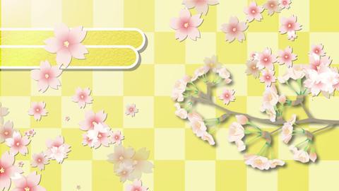 和風の花がひろがる stock footage