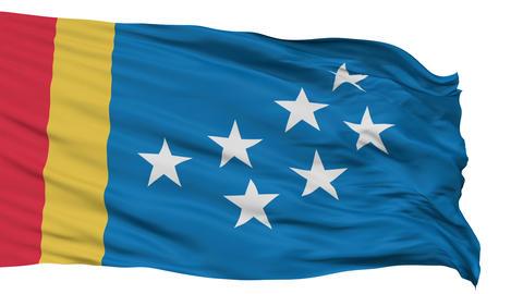 Isolated Waving National Flag of Durham City Animation