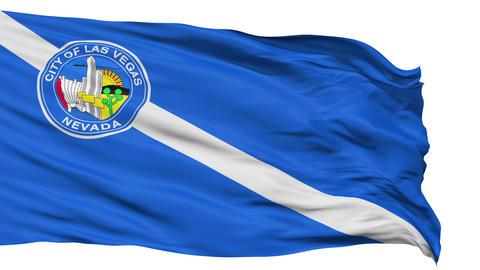 Isolated Waving National Flag of Las Vegas City Animation