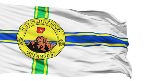 Isolated Waving National Flag of Little Rock City Animation