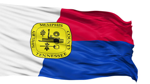 Isolated Waving National Flag of Memphis City Animation