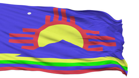 Isolated Waving National Flag of Roswell City Animation