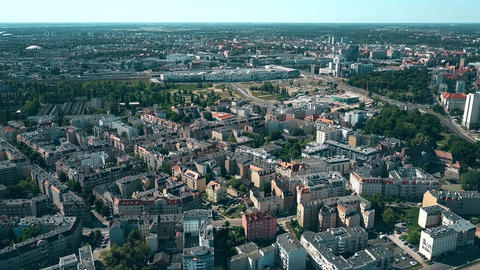 Aerial view of houses in Poznan, Poland Footage