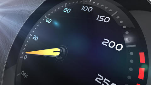 Speedo meter or indicator conceptual animation Animation