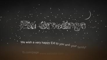 Eid Saeed Mubarak Greetings and Ramadan Kareem Mubarak in different languages After Effectsテンプレート