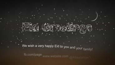 Eid Saeed Mubarak Greetings and Ramadan Kareem Mubarak in different languages After Effectsテンプレート
