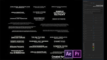 52 Glitch Titles for Premiere Pro and AfterEffects After Effectsテンプレート