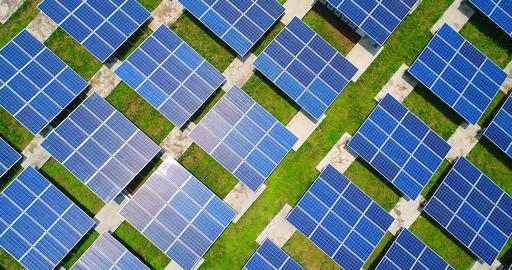 aerial shot of solar panels, Live影片