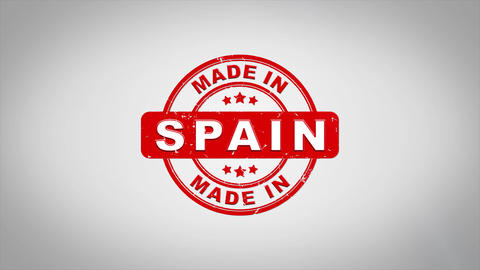 Made In SPAIN Signed Stamping Text Wooden Stamp Animation Animation