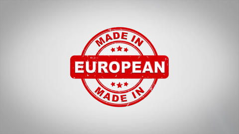 Made In EUROPEAN Signed Stamping Text Wooden Stamp Animation Animation