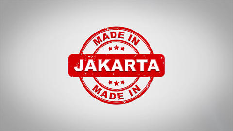 Made In JAKARTA Signed Stamping Text Wooden Stamp Animation Animation